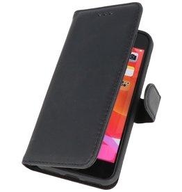 Klassiek Design Echt Leer Hoesje iPhone SE 2020 Zwart