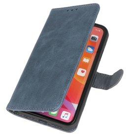 Klassiek Design Echt Leer Hoesje iPhone 11 Navy