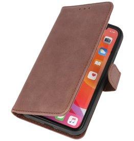 Klassiek Design Echt Leer Hoesje iPhone 11 Mocca
