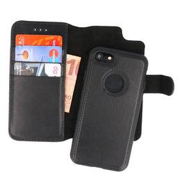Klassiek Design 2 in 1 Leer Book Case iPhone 8 Zwart