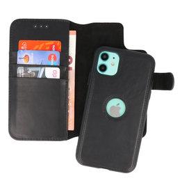 Klassiek Design 2 in 1 Leer Book Case iPhone 11 Zwart