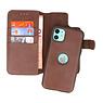 Klassiek Design 2 in 1 Leer Book Case iPhone 11 Mocca