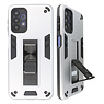 Stand Hardcase Backcover for Samsung Galaxy A32 5G Silver