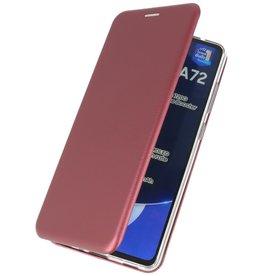 Slim Folio Case for Samsung Galaxy A72 / 5G Burgundy Red