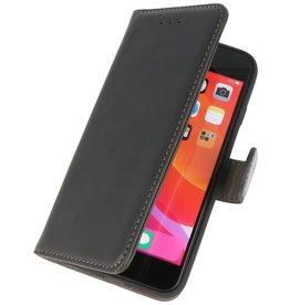 Microfibre Book Case Cover for iPhone SE 2020 Black