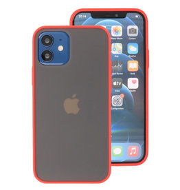 Kleurcombinatie Hard Case voor iPhone 12 Mini Rood