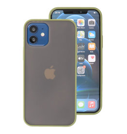 Color Combination Hard Case for iPhone 12 Mini Green