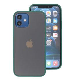 Kleurcombinatie Hard Case voor iPhone 12 Mini Donker Groen