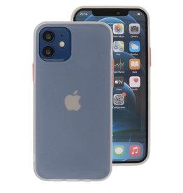 Color Combination Hard Case for iPhone 12 Mini White