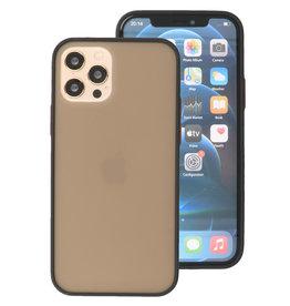 Kleurcombinatie Hard Case voor iPhone 12 - Pro Zwart