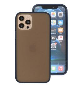 Kleurcombinatie Hard Case voor iPhone 12 - Pro Blauw
