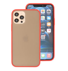Kleurcombinatie Hard Case voor iPhone 12 - Pro Rood