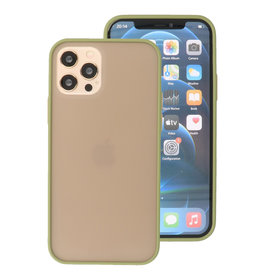 Color Combination Hard Case for iPhone 12 - Pro Green