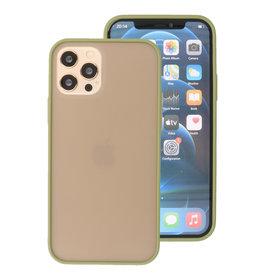 Kleurcombinatie Hard Case voor iPhone 12 - Pro Groen