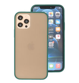 Color Combination Hard Case for iPhone 12 - Pro Dark Green