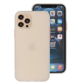 Kleurcombinatie Hard Case voor iPhone 12 - Pro Wit