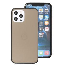 Kleurcombinatie Hard Case voor iPhone 12 Pro Max Zwart