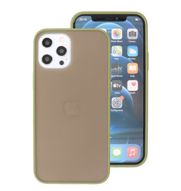 Color Combination Hard Case for iPhone 12 Pro Max Green