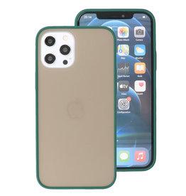 Kleurcombinatie Hard Case voor iPhone 12 Pro Max Donker Groen