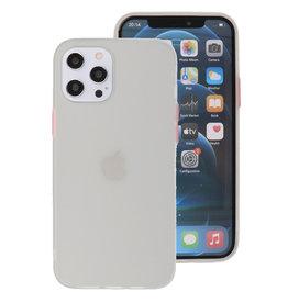 Kleurcombinatie Hard Case voor iPhone 12 Pro Max Wit