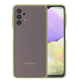 Color Combination Hard Case Samsung Galaxy A32 4G Green