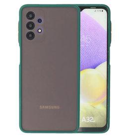 Color Combination Hard Case Samsung Galaxy A32 4G Dark Green
