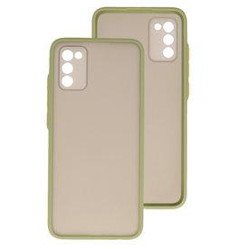 Color Combination Hard Case Samsung Galaxy A02s Green
