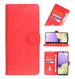 Bookstyle Wallet Cases Hoesje voor Samsung Galaxy A01 Rood