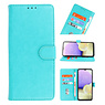 Bookstyle Wallet Cases Hoesje voor Samsung Galaxy A01 Groen