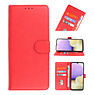 Bookstyle Wallet Cases Hoesje voor Samsung Galaxy A11 Rood