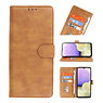 Bookstyle Wallet Cases Hoesje voor Samsung Galaxy A11 Bruin