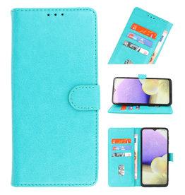 Bookstyle Wallet Cases Hoesje voor Samsung Galaxy A21 Groen