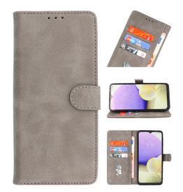 Bookstyle Wallet Cases Hoesje voor Samsung Galaxy A21 Grijs