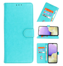 Bookstyle Wallet Cases Case for Samsung Galaxy A22 5G Green