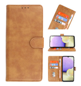 Bookstyle Wallet Cases Case for Samsung Galaxy A22 4G Brown