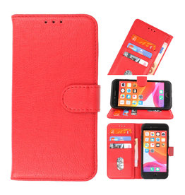 Bookstyle Wallet Cases Case for iPhone SE 2020 - 8 - 7 Red
