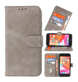 Bookstyle Wallet Cases Case for iPhone SE 2020 - 8 - 7 Grey