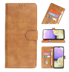 Bookstyle Wallet Cases Hoesje voor Moto G 5G Bruin