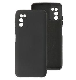 2.0mm Dikke Fashion Color TPU Hoesje Samsung Galaxy A03s Zwart