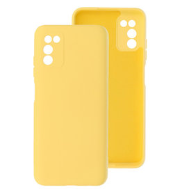 2.0mm Thick Fashion Color TPU Case Samsung Galaxy A03s Yellow