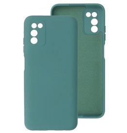 2.0mm Thick Fashion Color TPU Case Samsung Galaxy A03s Dark Green
