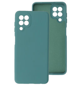 2.0mm Thick Fashion Color TPU Case Samsung Galaxy A22 4G Dark Green