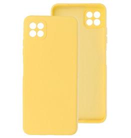 2.0mm Thick Fashion Color TPU Case Samsung Galaxy A22 5G Yellow