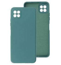 2.0mm Thick Fashion Color TPU Case Samsung Galaxy A22 5G Dark Green