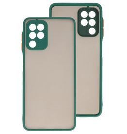 Color Combination Hard Case Samsung Galaxy A22 4G Dark Green