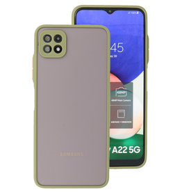 Color Combination Hard Case Samsung Galaxy A22 5G Green