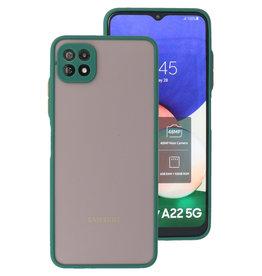Color Combination Hard Case Samsung Galaxy A22 5G Dark Green