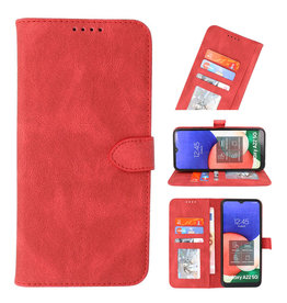 Wallet Cases Cover for Samsung Galaxy A22 5G Red