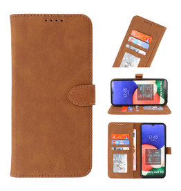 Wallet Cases Hoesje voor Samsung Galaxy A22 5G Bruin
