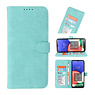 Wallet Cases Hoesje voor Samsung Galaxy A22 5G Turquoise